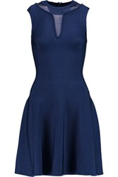 Issa Bay Stretch Knit Mini Dress Indigo