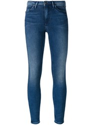 Calvin Klein Jeans Super Skinny Cropped Blue