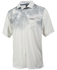 Greg Norman For Tasso Elba Men's Galaxy Print Performance Polo Only At Macy's Silverspoon