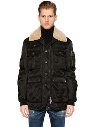 Dsquared Multi Pocket Padded Nylon Aviator Jacket
