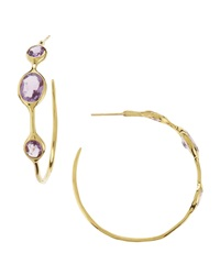 Ippolita Amethyst Hoop Earrings Large