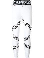 Philipp Plein 'Corylus' Jogging Trousers Women Cotton Polyester Viscose Xs White