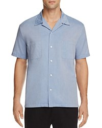 Vince Cabana Chambray Slim Fit Button Down Shirt Vintage Blue