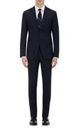 Barneys New York Men's Striped Two Button Suit Navy