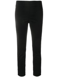 Hache Cropped Skinny Trousers Black