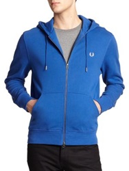 Fred Perry Cotton Hoodie Royal Blue