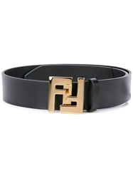 Fendi Monogram Buckle Belt Black