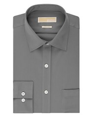 Michael Michael Kors Regular Fit Non Iron Dress Shirt Gunmetal