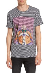 Eleven Paris Men's Elevenparis Dratue Dragonball Stripe Graphic T Shirt