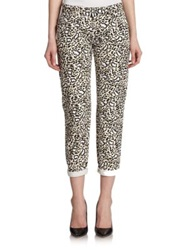 Stella Mccartney Animal Print Skinny Jeans Blue Multi