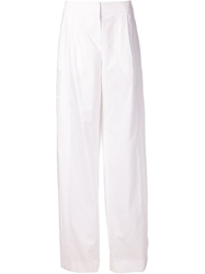 Maiyet Wide Leg Trousers White