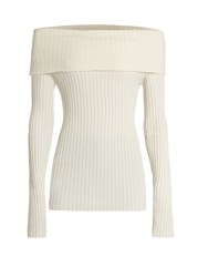 The Row Tulah Silk Blend Sweater Ivory