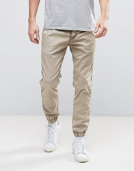 Replay Drawstring Cuffed Hem Taper Chino Washed Sand Beige