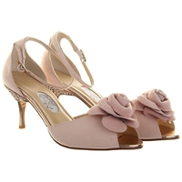 Rainbow Club Sugar Plum Peep Toe Leather Court Shoes Rose Pink