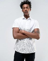Noose And Monkey Skinny Cut Sew Smart Shirt Off White