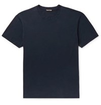 Tom Ford Lyocell And Cotton Blend Jersey T Shirt Navy