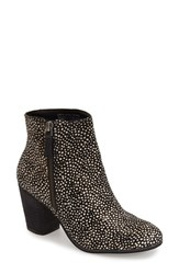 Women's Bp. 'Trolley' Ankle Bootie Black White Dots Calf Hair