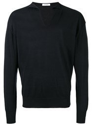 Boglioli V Neck Jumper Black