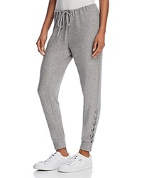 Chaser Lace Up Jogger Pants Heather Gray
