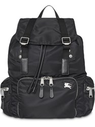 Burberry The Large Rucksack In Aviator Nylon And Leather Black