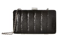 Jessica Mcclintock Noelle Quilted Mesh Clutch Black Clutch Handbags