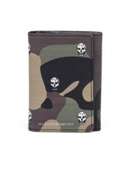 Alexander Mcqueen Camo Leather Billfold Wallet Army Green