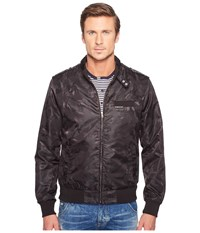 Members Only Iconic Jacquard Racer Jacket Black Men's Coat