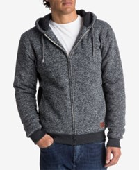 Quiksilver Men's Heathered Sherpa Lined Hoodie Dark