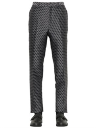 Christopher Kane 19Cm 3D Cubes Wool And Silk Jacquard Pants