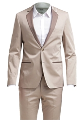 Karl Lagerfeld Lagerfeld Suit Beige Light Brown