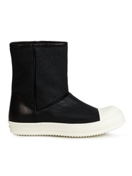 Rick Owens Slip On Boots Black