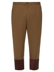 Tomorrowland Striped Cuff Cotton Trousers