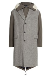 Mcq By Alexander Mcqueen Mcq Alexander Mcqueen Wool Parka With Cotton And Shearling Multicolor
