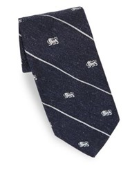 Polo Ralph Lauren Lion Emblem Silk Tie Navy White