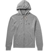 Polo Ralph Lauren Loopback Cotton Blend Jersey Hoodie Gray