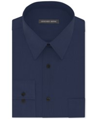 Geoffrey Beene Men's Classic Fit Wrinkle Free Bedford Cord Dress Shirt Navy