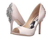 Badgley Mischka Nilla Light Pink Satin Women's Toe Open Shoes