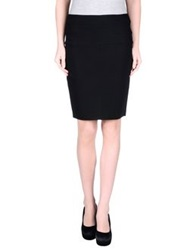 Michelle Windheuser Knee Length Skirts Black