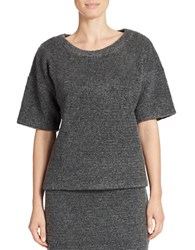 424 Fifth Boxy Blanket Knit Pullover Graphite Heather