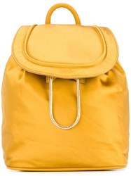 Diane Von Furstenberg Drawstring Flap Closure Backpack Yellow Orange