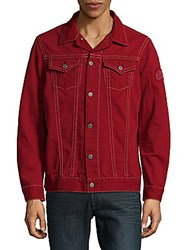 Robin's Jean Cotton Moto Jacket Red