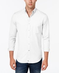 Club Room Men's Big And Tall Solid Long Sleeve Shirt Classic Fit Bright White