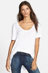 Women's Leith Deep V Tee White