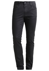 Pier One Slim Fit Jeans Dark Grey Coated Coated Denim
