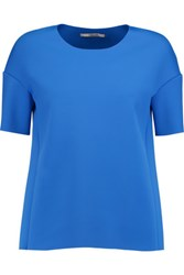 J Brand Auden Stretch Scuba Top Bright Blue