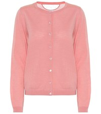 Red Valentino Wool And Silk Cardigan Pink