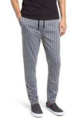Native Youth Pinstripe Slim Fit Pants Charcoal