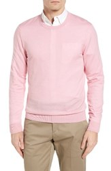 Burberry Men's Brit Richmond Cotton And Cashmere Sweater Light Pink