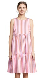 Mds Stripes Sleeveless Peasant Dress Pink Stripe