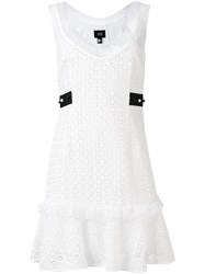 Class Roberto Cavalli Embroidered Dress Women Polyester Acetate 44 White